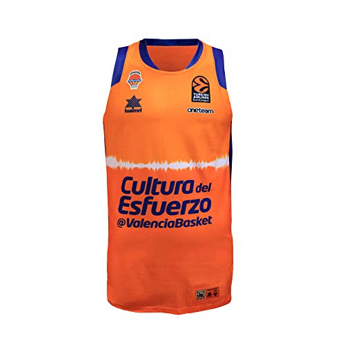 Valencia basket Camiseta de Juego Naranja euroliga, Hombres, XS