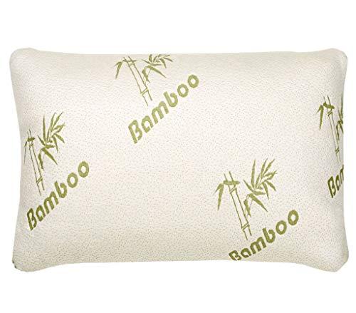 G&H Originele Bamboe Kussen Geheugen Schuim Orthopedische Bamboe Kussen Slaap Ondersteuning Hypoallergene Koel Kussen Pack van 1