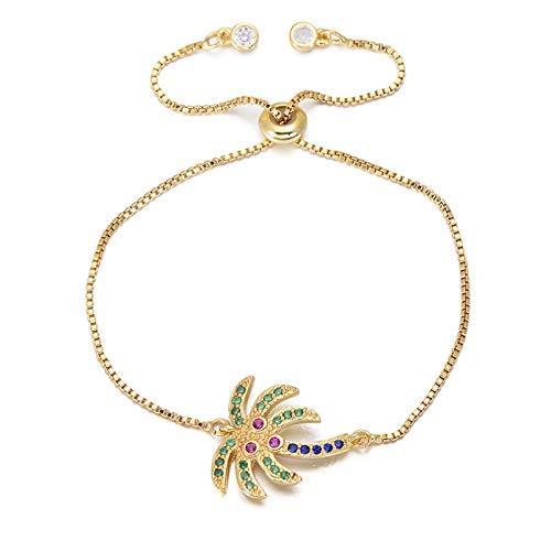 ShFhhwrl Hand Bangle Bracelets Jewellery For Womens Gorgeous Colorful Cz Zircon Crystal Women Bracelet Coconut Bracelets & Bangle