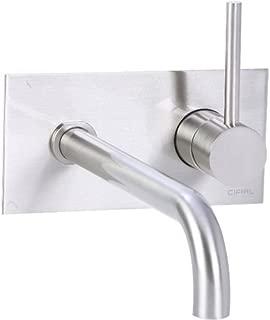 Cifial 225.152.620 Techno 25 Single Handle Wall-Mounted Bathroom Faucet, Satin Nickel