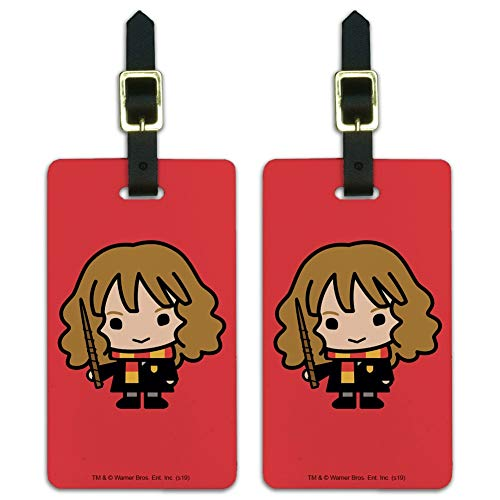 Harry Potter Cute Chibi Hermione Luggage ID Tags Cards Set of 2