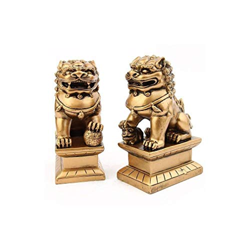lachineuse Paire Chiens FU (OU Lions Chinois)