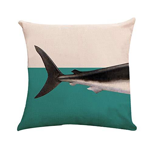 99native Taie d'oreiller série Shark(45×45 cm),Court Peluche Coussin Fall rectangulaire Canapé Maison Auto décoratif taie d'oreiller Housse de Coussin Prunier Rouge Prune Fleurs (A)