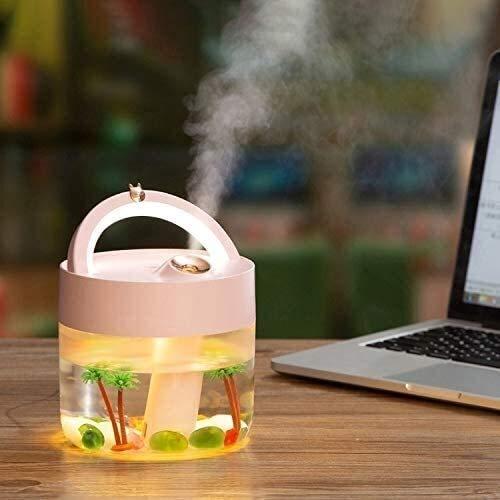 Humidificadores, difusores de aroma con, difusor de aceites esenciales, humidificador de aire USB Cargando pesado Pulverizador de niebla para el hogar Lámpara de escritorio para el hogar Difusor de ar