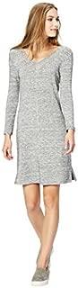 Daily Ritual Amazon Brand Women's Supersoft Terry Bracelet-Sleeve V-Neck Dress