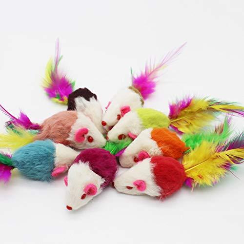 Cosye Die Katze liefert Haustier Katzenspielzeug necken Katzen Uhrwerk Maus und Katzenspielzeug kleine Maus Katzenspielzeug Maus Plüsch