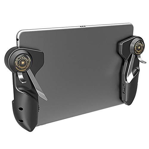 PUBG - Controlador móvil para tablet - Aovon 4 timbres 6 dedos operativos, antideslizante, sensible L1R1 L2R2 Shoot-Aim-Trigger Gamepad Soporte para iPad y tablets de 5,5 a 12,9 pulgadas