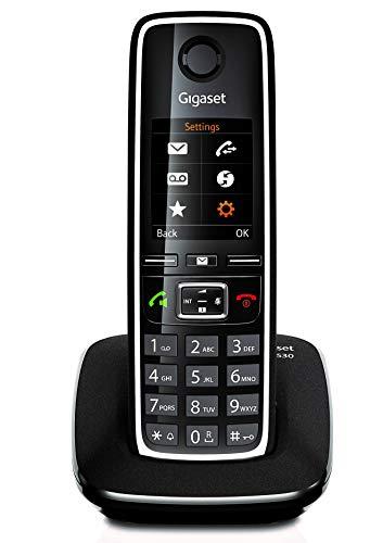 Gigaset C530 - Teléfono Inalámbrico con Manos Libres y Pantalla en color, Negro