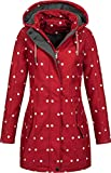 Top Fuel Fashion Damen Softshell-Kurzmantel IVANA - red/white dots