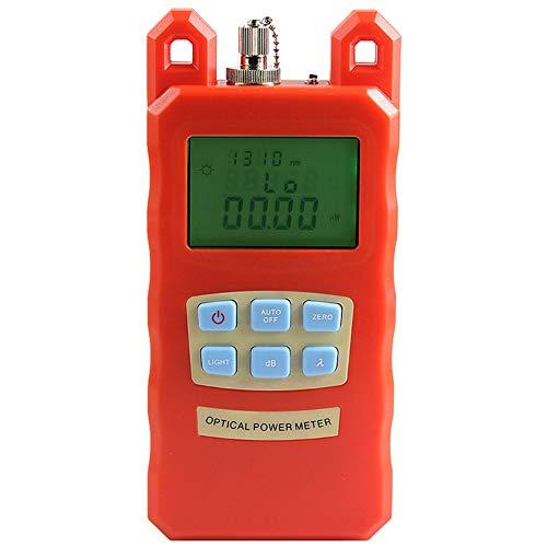 Medidor de fibra óptica medidor de potencia instrumento de luz de fibra óptica probador de atenuación rango de prueba de -70 ~ +10