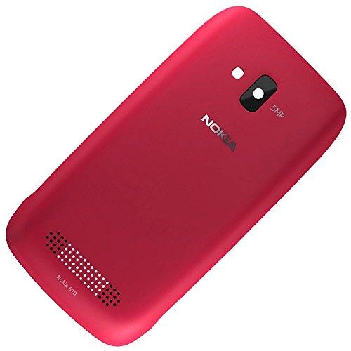 Nokia Lumia 610Copribatteria Originale Magenta coperchio della batteria Back Cover Copri Batteria Copribatteria batteria con patta con guscio