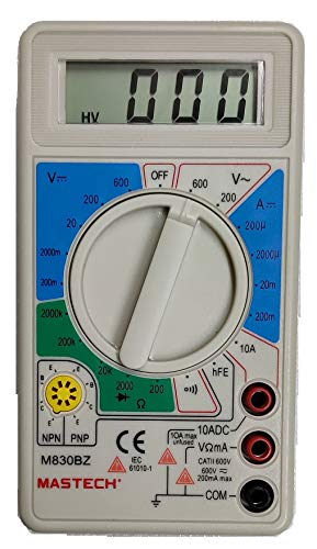 Sigma Instruments Mastech M 830BZ Digital Multimeter Original With Probes For Measuring Resistance. AC/DC Voltage & Current