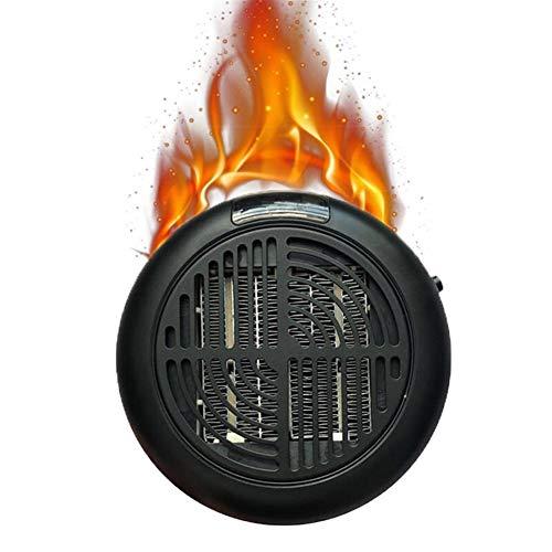 Swarouskl Minigonna Stufa elettrica Elettrico 900w Desktop Forte Riscaldamento Aria Fan Home Office Parete Handy Air Heater Bagno Radiatore Warmer Fan (Color : Nero)