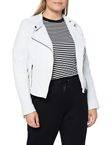 Urban Leather Fashion Lederjacke - Sylvia, White, Größe XL