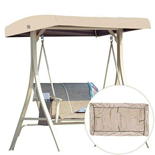 Replacement Cover for Swing Canopy, Cubierta Superior Impermeable de Repuesto para Toldo de Columpio para Exteriores, para Columpio de Jardín de 2-3 Asientos de Patio, 191 * 120 * 18 Cm