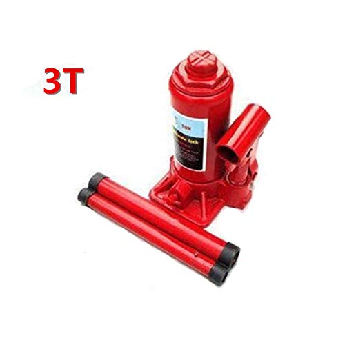 Why Choose Tuuertge Bottle Jacks Hydraulic Bottle Jacks Red 3 Tonne Capacity Heavy-Duty One-Piece Hy...