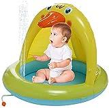 LYYJIAJU Piscina para niños Inflable para bebés Sombrilla al Aire Libre Juguetes Familiares para jardín Interior Piscina en el Patio Trasero Ideal para Todos los niños, niños y Adultos