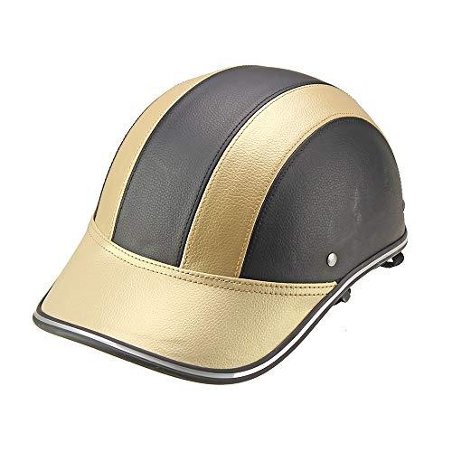 Open Face Helm Jethelm ABS Helm Cooles Futter Praktische Sicherheitsschnalle Motorrad- / Elektrohelm Helm Sommerhelm BaseballmüTze PersöNlichkeit Leichter Halbhelm54-60cm