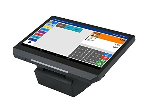 """14\"""" All-in-ONE Kassensystem für GASTRONOMIE, Kiosk, Imbiss, Strassenverkauf, Laden: Touschscreen Bondrucker Kundenanzeige Android GDPdU ANDROSYS H14.01"""