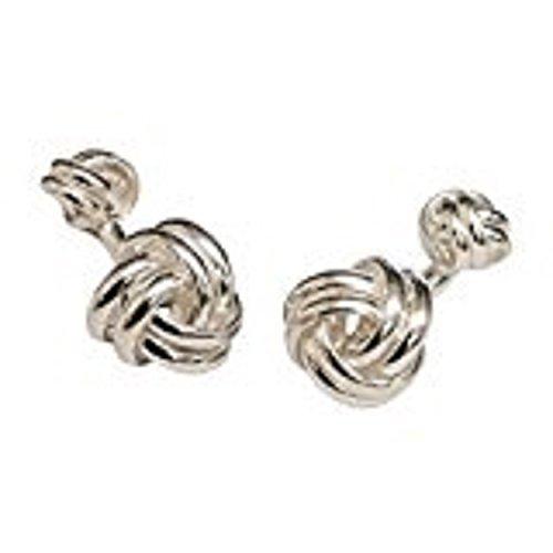 Sterling Silber keltische Knoten Manschettenknöpfe