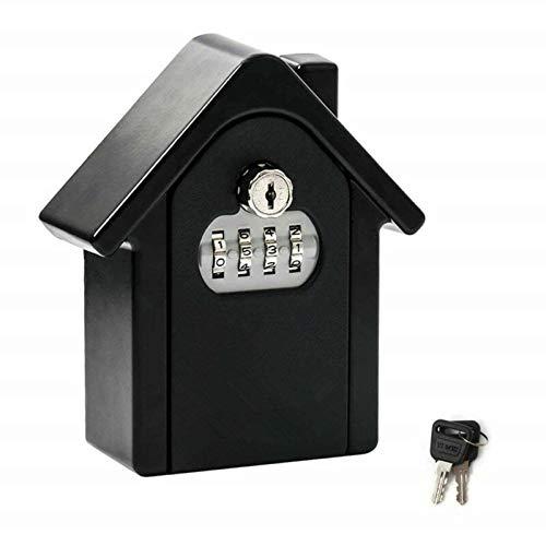 Key BoxKey - Caja de seguridad para exteriores (150 x 130 x 95 mm), color negro