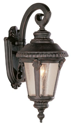 "Trans Globe Lighting 5043 RT Outdoor Commons 19"" Wall Lantern, Rust"