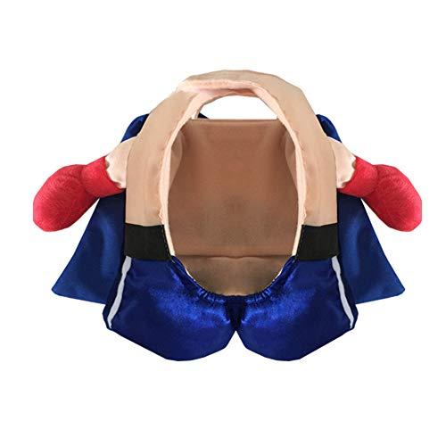 LXFTK Boxer aufrecht cos Hundemantel, Hunde Herbst Winter Jacke, Pullover Weste Bekleidung Kleidung, Winddicht und Warm, für Halloween, Reflective Soft, für kleine, mittlere und große Hunde-XS