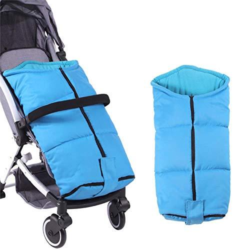 Waroomss - Saco universal para cochecito de bebé, saco de dormir de invierno, saco de dormir, saco de dormir para cochecito de bebé, bolsa impermeable al agua, cortavientos fría, desmontable, azul, -