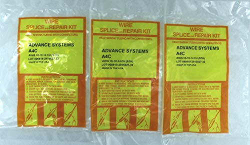 3 x A4C - Submersible Pump Wire Splice Kit Repair and Installation. #10#12#14 AWG, 4 Wires. Easy and Reliable. CRIMP It - SHRINK It and FORGET it!