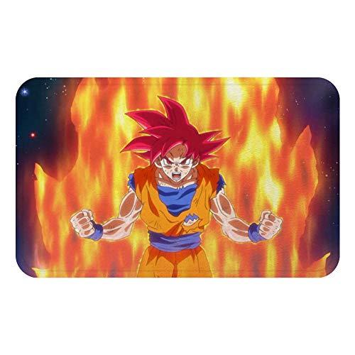 JRDZSH Anime Dragon Goku Cartoon Mat Bath Carpet Decorative Anti Slip Mats Room Car Floor Bar Home Decor Rugs Color B