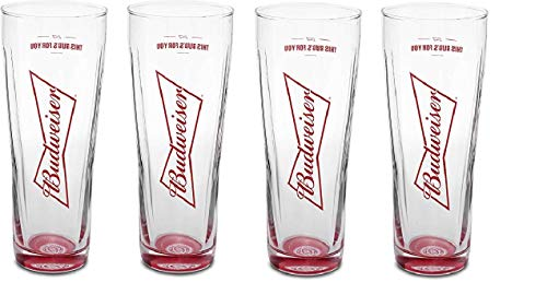 Budweiser Signature Glass - 16 Ounce - Set of 4