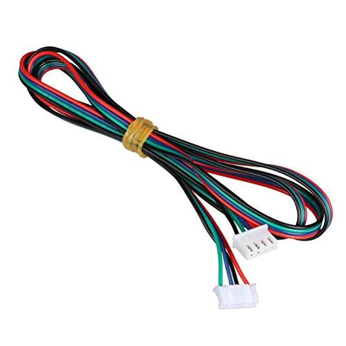 UEETEK 10 Piezas Cable para Motor de impresora 3D paso a paso HX2.54 4 pin a 6 pin Conector Cable 1M