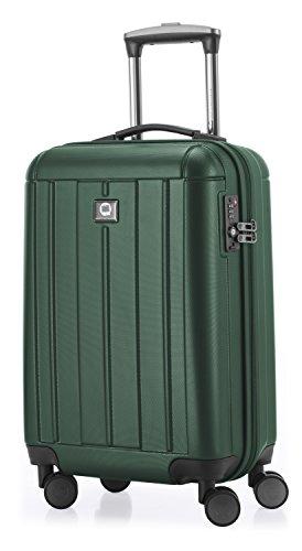 Hauptstadtkoffer - Kotti - Valigia bagaglio a mano 56 cm, Trolley rigido, leggero , ABS, TSA, 37 litri, Verde foresta