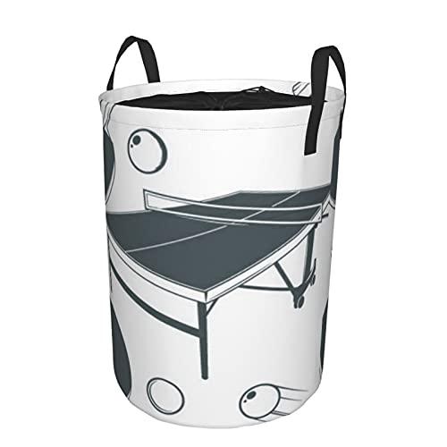 Cesto de lavandería redondo,mesa de ping-pong,raqueta de ping-pong,pelota pequeña de ping-pong,cesto de lavandería plegable impermeable con cordón de19