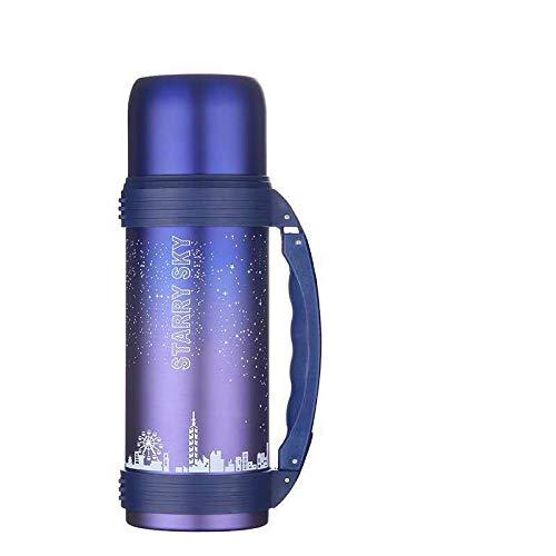 Xme Botella Deportiva para montañismo al Aire Libre, Maceta de Viaje de Gran Capacidad de 1.2L, matraz de vacío de Acero Inoxidable