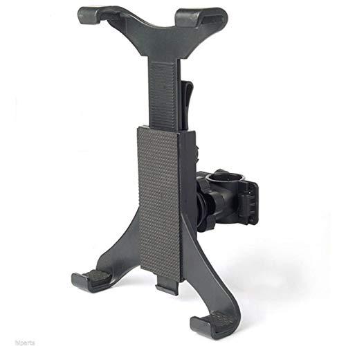 Cozy69 Soporte para tableta de bicicleta, portátil, para coche, bicicleta, para cinta de correr, giratoria, bicicleta estática para iPad, iPad Pro, iPad Mini, 2, 3, iPad Air, iPhone Smartphone(Negro)