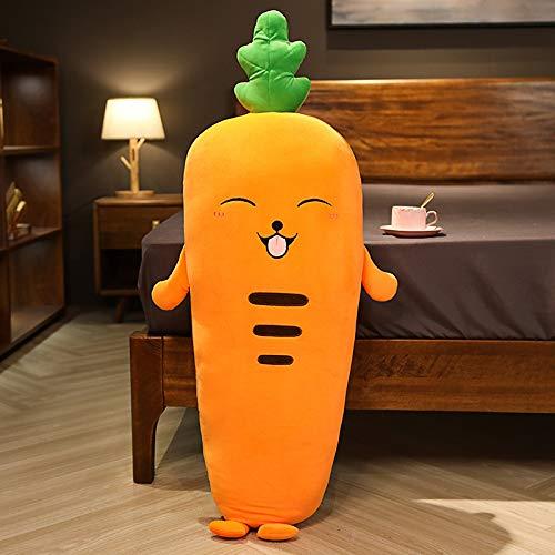 Frutas y Verduras Almohada Larga Almohada Almohada para Dormir Almohada Cilíndrica de Noche para Mujer 110 cm Zanahoria