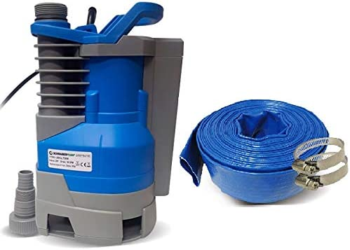 2021 Schraiberpump Sump Pump for Clean/Dirty Water 1/2hp w/built in automatic sale ON/OFF (with adjustable start heights) 2400GPH, 16'Head, Thermal Protector, Copper Winding INCLUDES 25ft OF PVC sale LAY FLAT HOSE outlet online sale