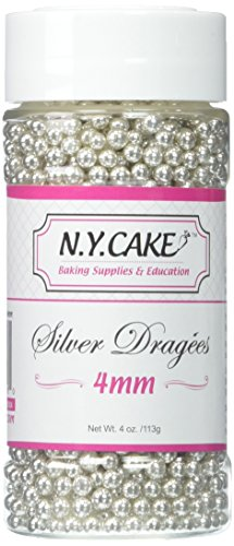 Siliver Dragees 4mm By NY Cake 4oz