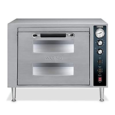 Waring Commercial WPO700 Double Deck Pizza Oven with Single Door, Silver