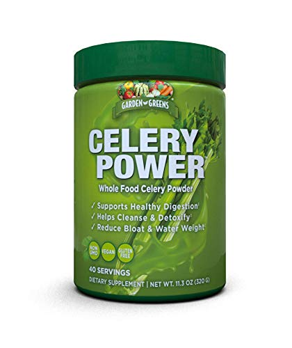 Garden Greens Celery Power Celery Juice Powder, Unflavored, Supports Healthy Digestion, 11.3 Ounce. (40 Servings)