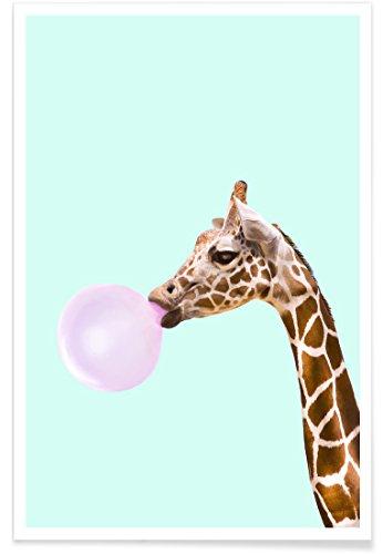 """JUNIQE® Pop Art Lustig Poster 20x30cm - Design """"Giraffe"""" entworfen von Paul Fuentes"""