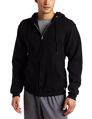 Russell Athletic Men's Dri Power Full Zip Fleece Hoodie, Black, XXX-Large