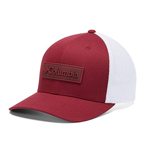 Columbia PHG Mesh Ballcap, Breathable, Red Jasper/Patch, Large/X-Large