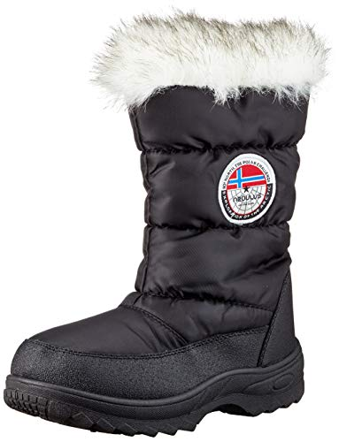 Nebulus Winter Stiefel ISCHGL, Winterstiefel, Damen, schwarz, Kunstfell, Größe 39 (Q701)