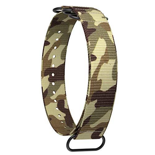 Ullchro Nylon Correa Reloj Calidad Alta Correa Relojes Militar del ejército - 20mm, 22mm Correa Reloj con Hebilla de Acero Inoxidable (20mm, Camouflage 3)