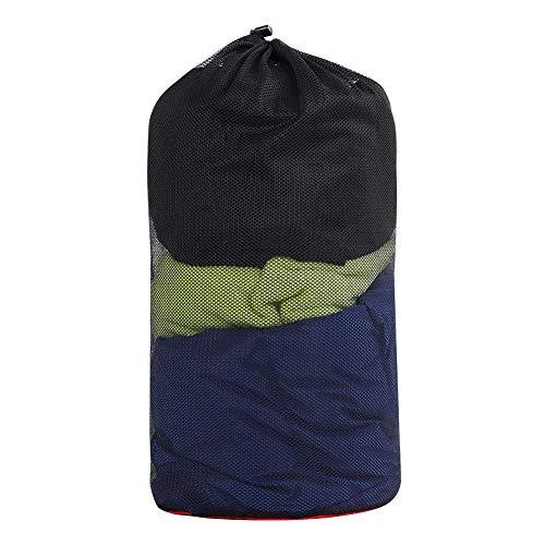 Keenso Kompressions-Aufbewahrungstasche aus Nylon im Freien, Schlafkompressions-Sack-Tasche für Camping-Wanderungen