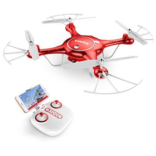 ZHENDUO Drone Drone SYMA X5UW Selfie avec caméra Drones RC 720P Caméra HD WiFi FPV Transmission en Temps réel de l'aéronef Quadricoptère