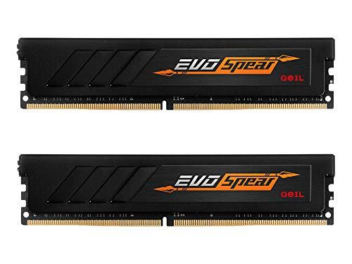GeIL, EVO Spear Arbeitsspeicher 16GB (2x8GB) DDR4 3000MHz C16 XMP 2.0 Desktop Gaming Speicher Kit RAM, Schwarz, GASB416GB3000C16ADC