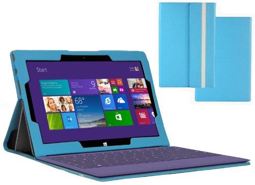 Navitech Série Surface Étui de protection Microsoft Surface 2  - bleu